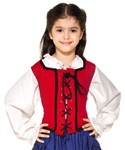 Girls Reversible Pirate Bodice