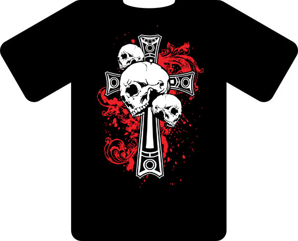 Dropship T1011 Pirate T-shirt (Black)