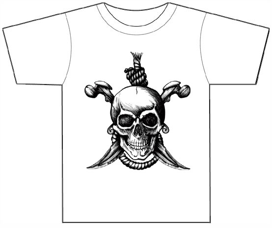 Dropship T1016 Pirate T-shirt (White)