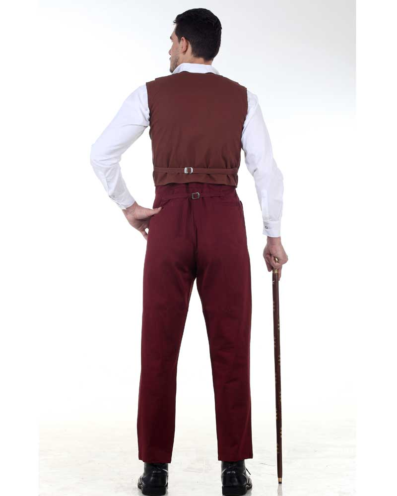 Canvas Classic Pants-Maroon