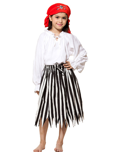 Girls Stripped Pirate Skirt - Click Image to Close